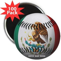 """Mexican Baseball 2.25"""" Magnet (100 pack)"""