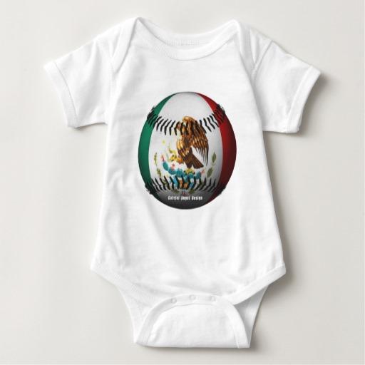 Mexican Baseball Baby Jersey Bodysuit