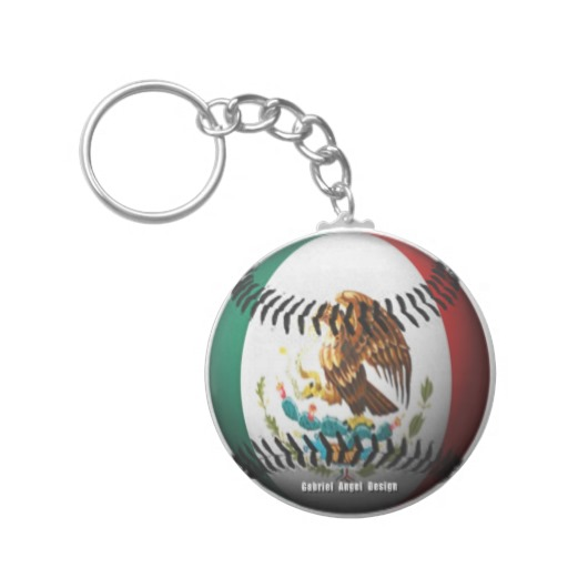 Mexican Baseball Basic Button Keychain