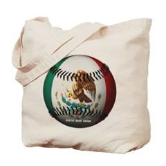 Mexican Baseball Canvas Tote Bag