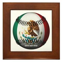Mexican Baseball Framed Tile