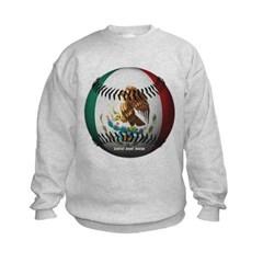 Mexican Baseball Kids Crewneck Sweatshirt by Hanes