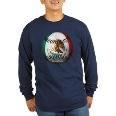 Mexican Baseball Long Sleeve Dark T-Shirt