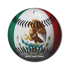 Mexican Baseball Ornament (Round)