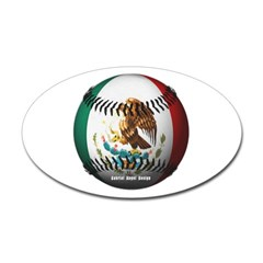 Mexican Baseball Oval Decal