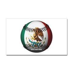 Mexican Baseball Rectangle Decal