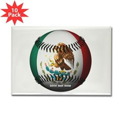 Mexican Baseball Rectangle Magnet (10 pack)
