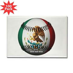 Mexican Baseball Rectangle Magnet (100 pack)