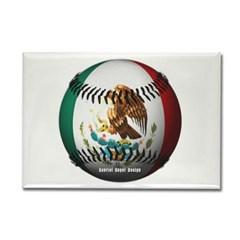 Mexican Baseball Rectangle Magnet