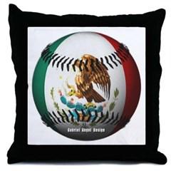 Mexican Baseball Throw Pillow
