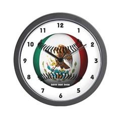 Mexican Baseball Wall Clock