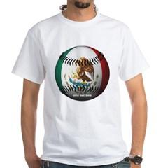 Mexican Baseball White T-Shirt