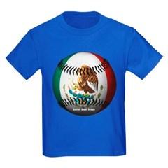 Mexican Baseball Youth Dark T-Shirt by Hanes