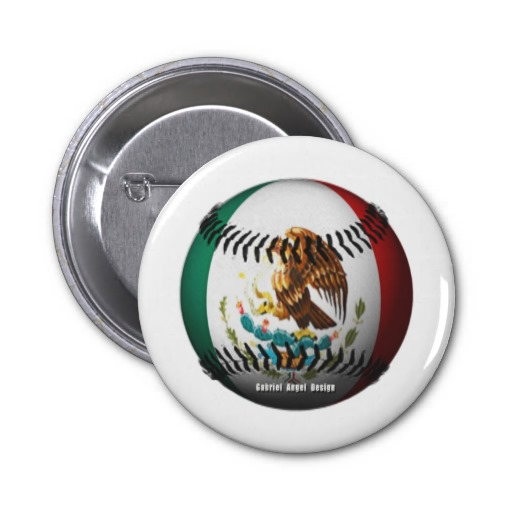 Mexico Baseball 2 Inch Round Button