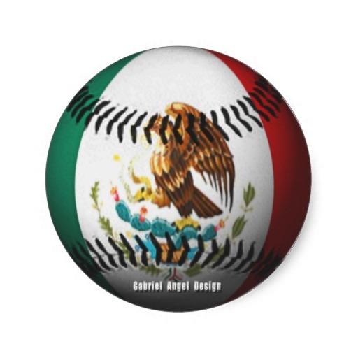 Mexico Baseball Classic Round Sticker