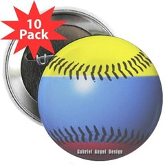 "Colombia Baseball 2.25"" Button (10 pack)"