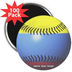 """Colombia Baseball 2.25"""" Magnet (100 pack)"""