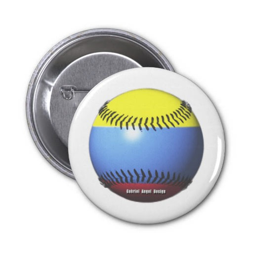 Colombia Baseball 2 Inch Round Button