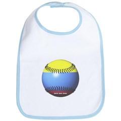 Colombia Baseball Baby Bib