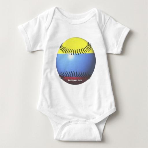 Colombia Baseball Baby Jersey Bodysuit