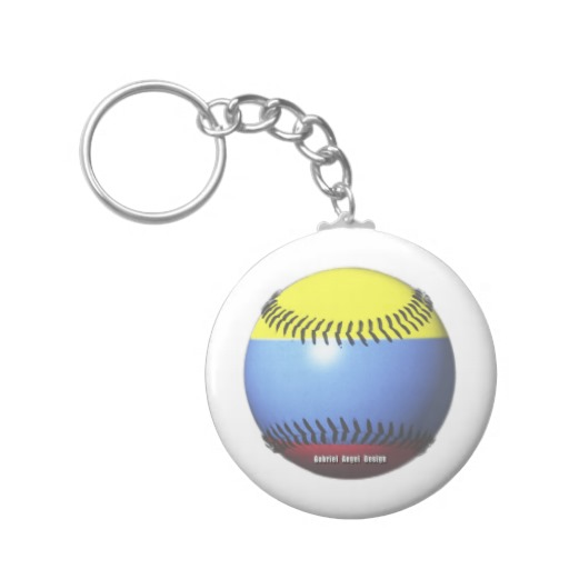 Colombia Baseball Basic Button Keychain