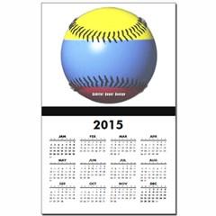 Colombia Baseball Calendar Print