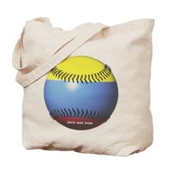 Colombia Baseball Canvas Tote Bag