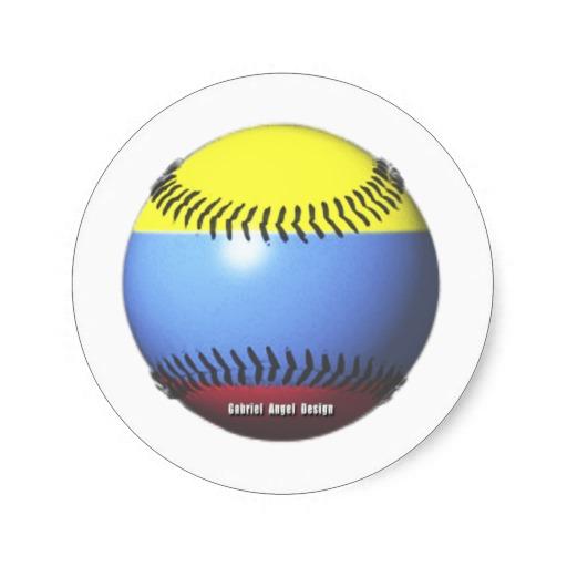Colombia Baseball Classic Round Sticker