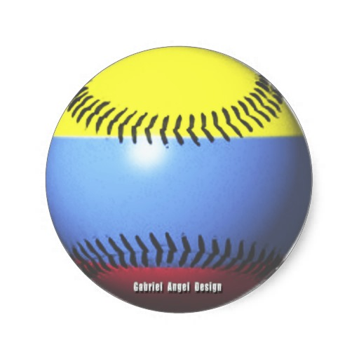 Colombia Baseball Classic Round Sticker