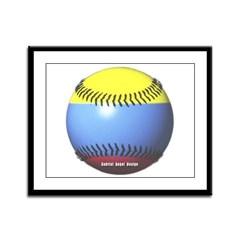 Colombia Baseball Framed Panel Print