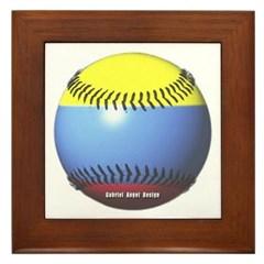 Colombia Baseball Framed Tile