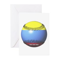 Colombia Baseball Greeting Cards (Pk of 10)