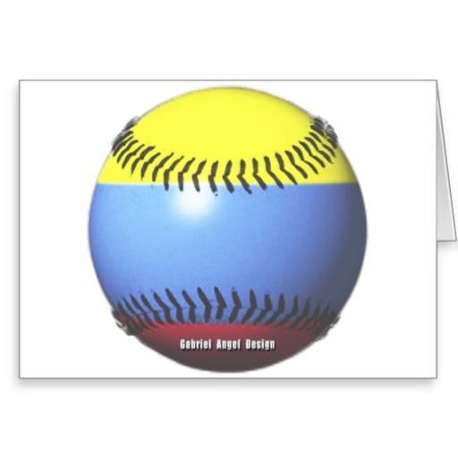 Colombia Baseball Greeting Card