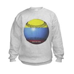 Colombia Baseball Kids Crewneck Sweatshirt by Hanes