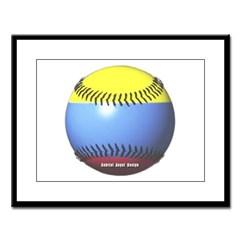 Colombia Baseball Large Framed Print