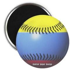Colombia Baseball Magnet
