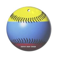 Colombia Baseball Ornament (Round)