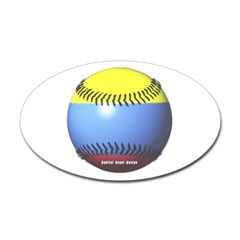 Colombia Baseball Oval Decal