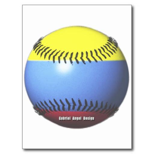 Colombia Baseball Postcard