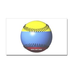 Colombia Baseball Rectangle Decal