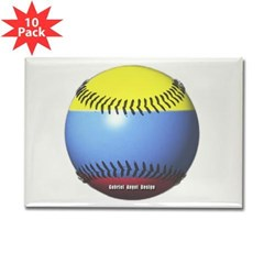 Colombia Baseball Rectangle Magnet (10 pack)
