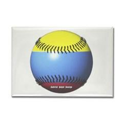 Colombia Baseball Rectangle Magnet