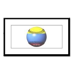 Colombia Baseball Small Framed Print