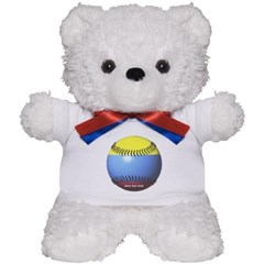 Colombia Baseball Teddy Bear