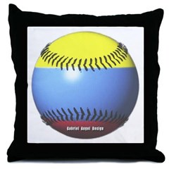 Colombia Baseball Throw Pillow
