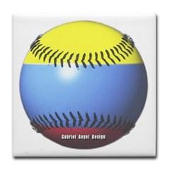 Colombia Baseball Tile Coaster