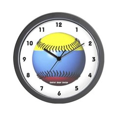 Colombia Baseball Wall Clock