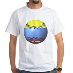 Colombia Baseball White T-Shirt
