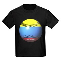 Colombia Baseball Youth Dark T-Shirt by Hanes