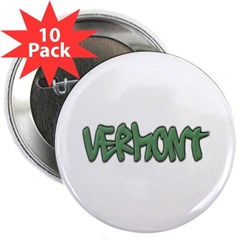 "Vermont Graffiti 2.25"" Button (10 pack)"